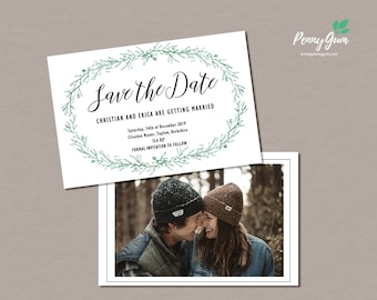 Rustic Wedding Save the Date • DIY Editable Template Printable Wedding Stationery • Instant Download • Templett, #PG0009_2