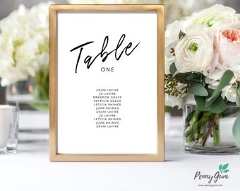 Simple Wedding Reception Table Seating Plan • Editable Template • DIY Printable Wedding Stationery • Instant Download, #PG0011_7