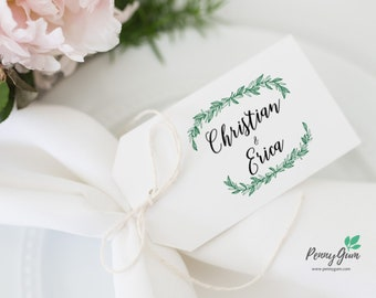 Rustic Wedding Favor Tags •  Editable Template Favour • DIY Printable Wedding Stationery • Instant Download, #PG0009_9