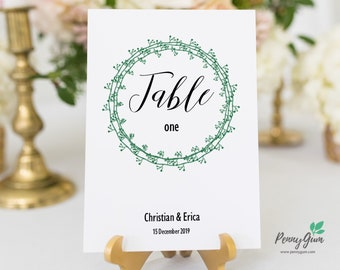 Rustic Wedding Reception Table Numbers • Editable Template • DIY Printable Wedding Stationery • Instant Download, #PG0009_8
