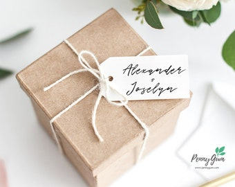 Simple Wedding Favor Tags •  Editable Template Favour • DIY Printable Wedding Stationery • Instant Download, #PG0011_9