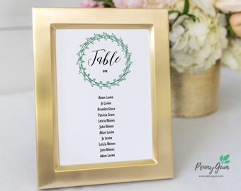 Rustic Wedding Reception Table Seating Plan • Editable Template • DIY Printable Wedding Stationery • Instant Download, #PG0009_7