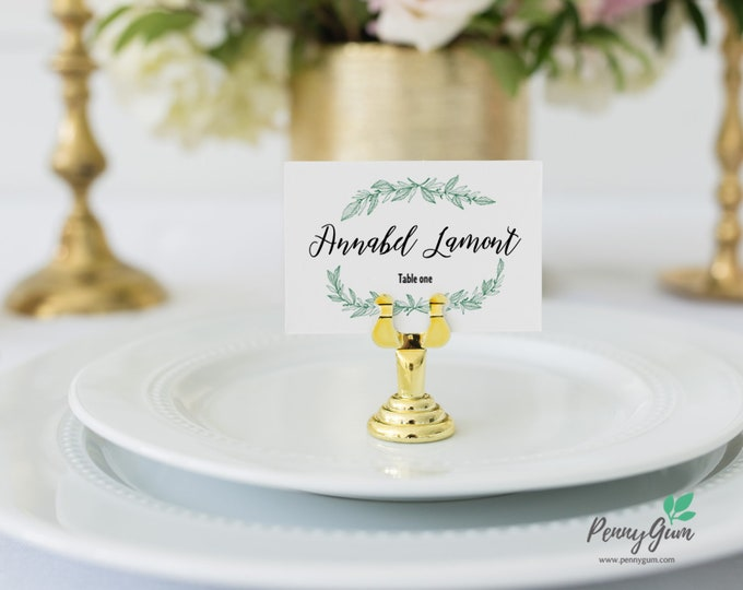 Featured listing image: Rustic Wedding Reception Place Card • Editable Template • DIY Printable Wedding Stationery • Instant Download, #PG0009_6