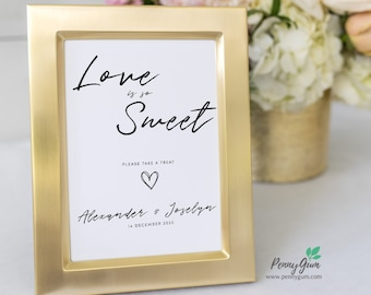 Simple Love Is Sweet Sign • Wedding Dessert Table Sign Template • DIY Printable Wedding Reception Sign • Instant Download, #PG0011_28
