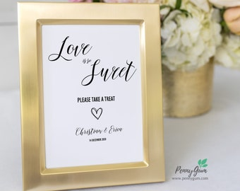 Rustic Love Is Sweet Sign • Wedding Dessert Table Sign Template • DIY Printable Wedding Reception Sign • Instant Download, #PG0009_28