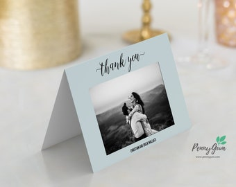 Rustic Wedding Reception Thank You Card • Editable Template • DIY Printable Wedding Stationery • Instant Download, #PG0009_10