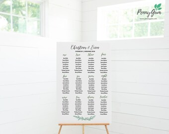 Rustic Wedding Reception Seating Plan • Editable Template • DIY Printable Wedding Stationery • Instant Download, #PG0009_11