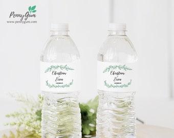 Rustic Wedding Water Bottle Label Template • DIY Printable, Editable Template • Personalised Custom Label • Instant Download, #PG0009_23