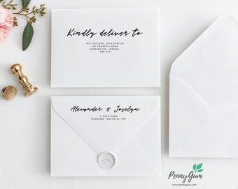 Simple Envelope Address Template • DIY Printable, Editable Wedding Envelope Stationery • Instant Download, #PG0011_21