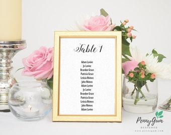 Minimalist Wedding Reception Table Seating Plan • Editable Template • DIY Printable Wedding Stationery • Instant Download, #PG0005_7