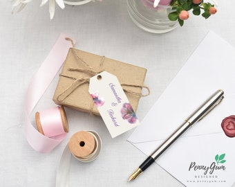 Floral Watercolour Wedding Favor Tags • DIY Printable Wedding Stationery • Editable PDF Template • Instant Download, #PG0002_9