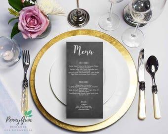 Blackboard Wedding Reception Food Menu • Chalk DIY Printable Wedding Stationery • Editable PDF Template • Instant Download, #PG0006_5