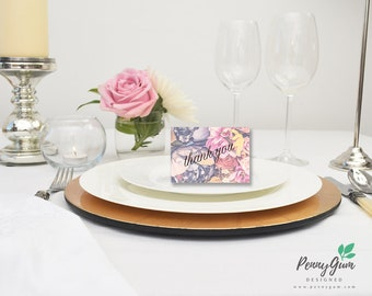 Floral Wedding Reception Thank You Card • DIY Printable Wedding Stationery • Editable PDF Template • Instant Download, #PG0004_10