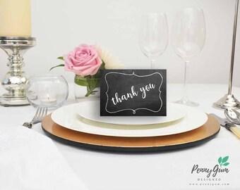 Blackboard Wedding Reception Thank You Card • Chalk DIY Printable Wedding Stationery • Editable PDF Template • Instant Download, #PG0006_10
