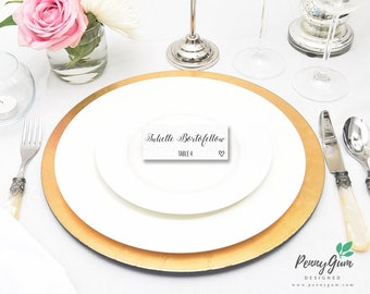 Minimalist Wedding Reception Place Cards • Editable Template • DIY Printable Wedding Stationery • Instant Download, #PG0005_6