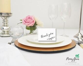 Minimalist Wedding Reception Thank You Card • Editable PDF Template • DIY Printable Wedding Stationery • Instant Download, #PG0005_10