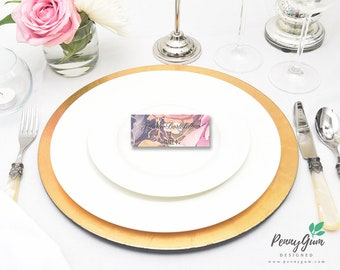 Floral Wedding Reception Place Cards • DIY Printable Wedding Stationery • Editable PDF Template • Instant Download, #PG0004_6