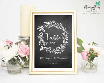 Blackboard Wedding Reception Table Numbers • Chalk DIY Printable Wedding Stationery • Editable PDF Template • Instant Download, #PG0006_8