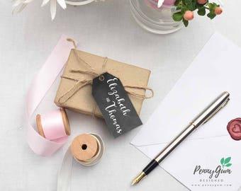 Blackboard Wedding Favor Tags • Chalk DIY Printable Wedding Stationery • Editable PDF Template • Instant Download, #PG0006_9
