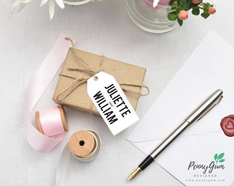 Floral Wedding Favur Tags • DIY Printable Wedding Stationery • Editable PDF Template • Instant Download, #PG0004_9
