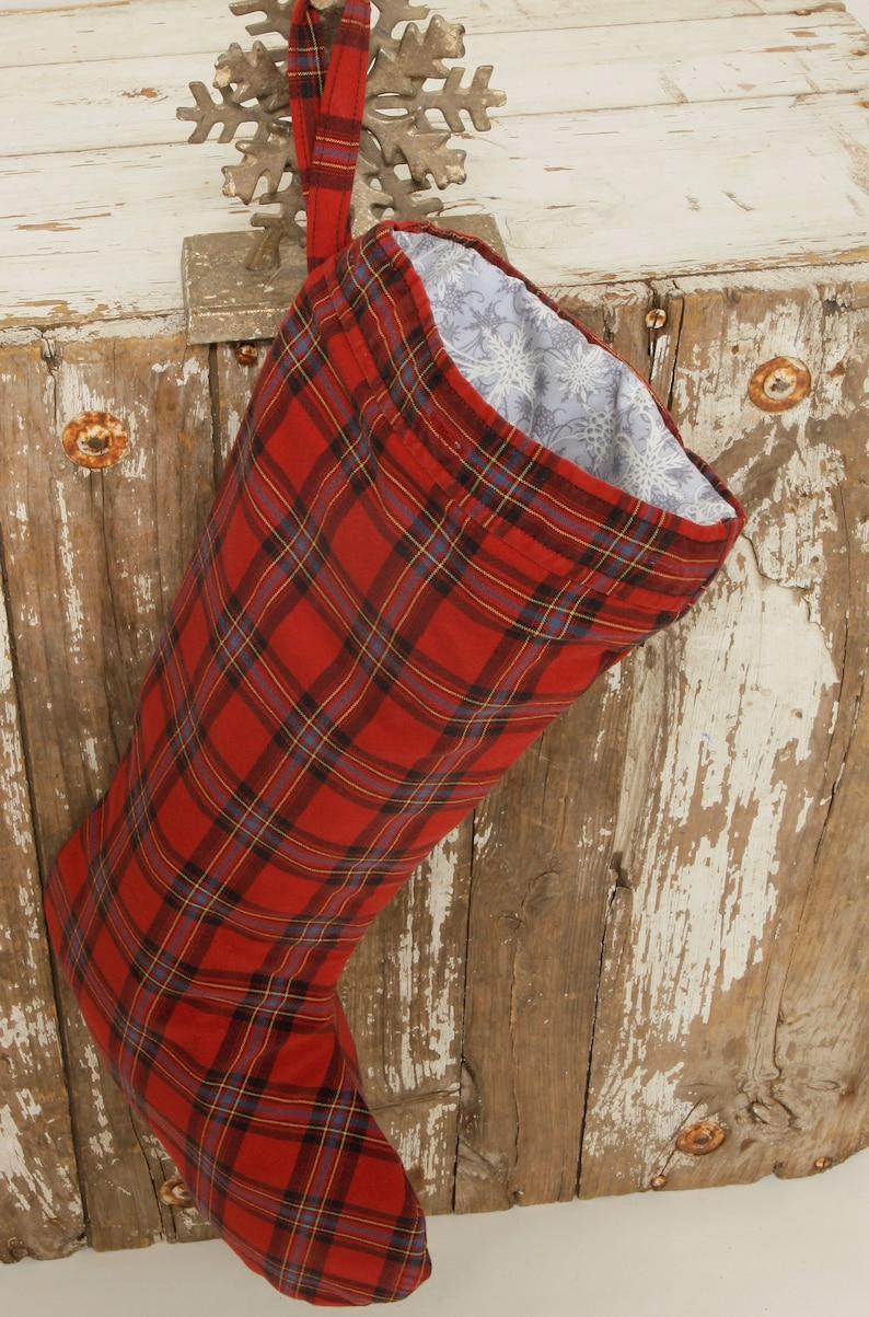 Mens Christmas Stocking Handsome Red Plaid Men/'s Shirt Sleeve