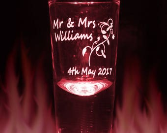 Engraved Shot Glass Personalised with your own message