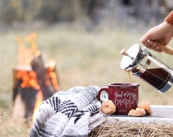 Good morning pumpkin mug, gifts under 30, fall mug, pumpkin mug, fall lovers gift, campfire mug