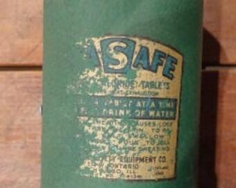 Vintage STAY SAFE Sodium Chloride Tablet Dispenser...Powdered Soap Dispenser.