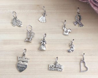 Set of 10 stitch markers for knitting - Lot number 20