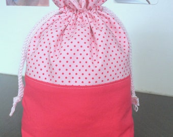 Girly! This double wrap or knitting or crochet project bag