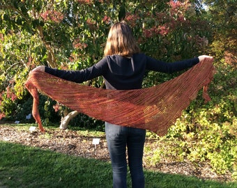 Patron TRICOT PRINTED of the Flétrybois shawl, french knitting model, plug