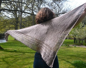 Patron TRICOT PRINTED KETTRICKEN shawl, French knitting model, plug