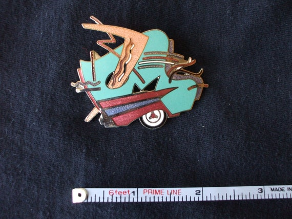 80's Memphis style abstract pin
