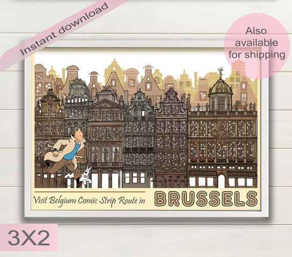 1958 Brussels Exposition Poster A3//A4 Print