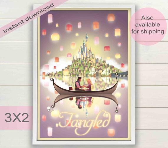 Verwirrt Kunstdruck Rapunzel Märchen Brüder Grimm Geburtstag Partei Minimalistisch Druckbare Kindergarten Plakat Jahrgang Digitaler Download