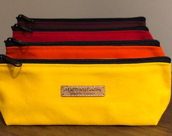 4f5ca4e04 Retro Canvas Pencil Case Inspired by Kettle Creek Canvas - Red, Orange,  Yellow, Burgundy Wine
