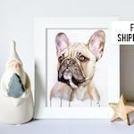 Custom Dog portrait Custom Dog Painting Custom Pet portrait Watercolor Painting Original Painting Christmas gifts Gift for mom Free Shipping