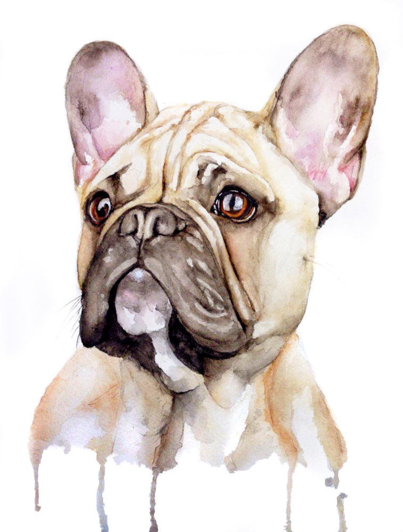 Dog Painting Custom Pet Portrait Pet Loss Gifts Pet image 0