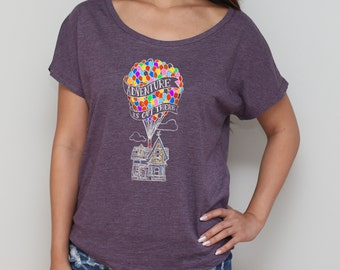 Up Adventure is Out There Disney Dolman / Disney Dolman / Disneyland Trip / Disneyland Shirts [E0108,E0214]
