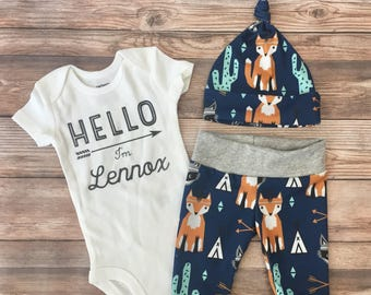 d849e0e3d635 Southwest Baby Boy Coming Home Outfit