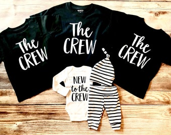 f429be7b7 The Crew Sibling Shirt, New to the Crew, The Crew, Big Brother, Big Sister,  Sibling Shirts, Sibling set, Big Brother Shirt, Big sister shirt