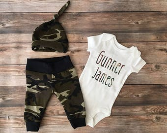 7d2f54f213358 Camo Newborn Boy Coming Home Outfit, Going Home Outfit, Camo, Army,  Camoflauge, Camo Outfit, Camo Baby, baby shower gift, baby name outfit