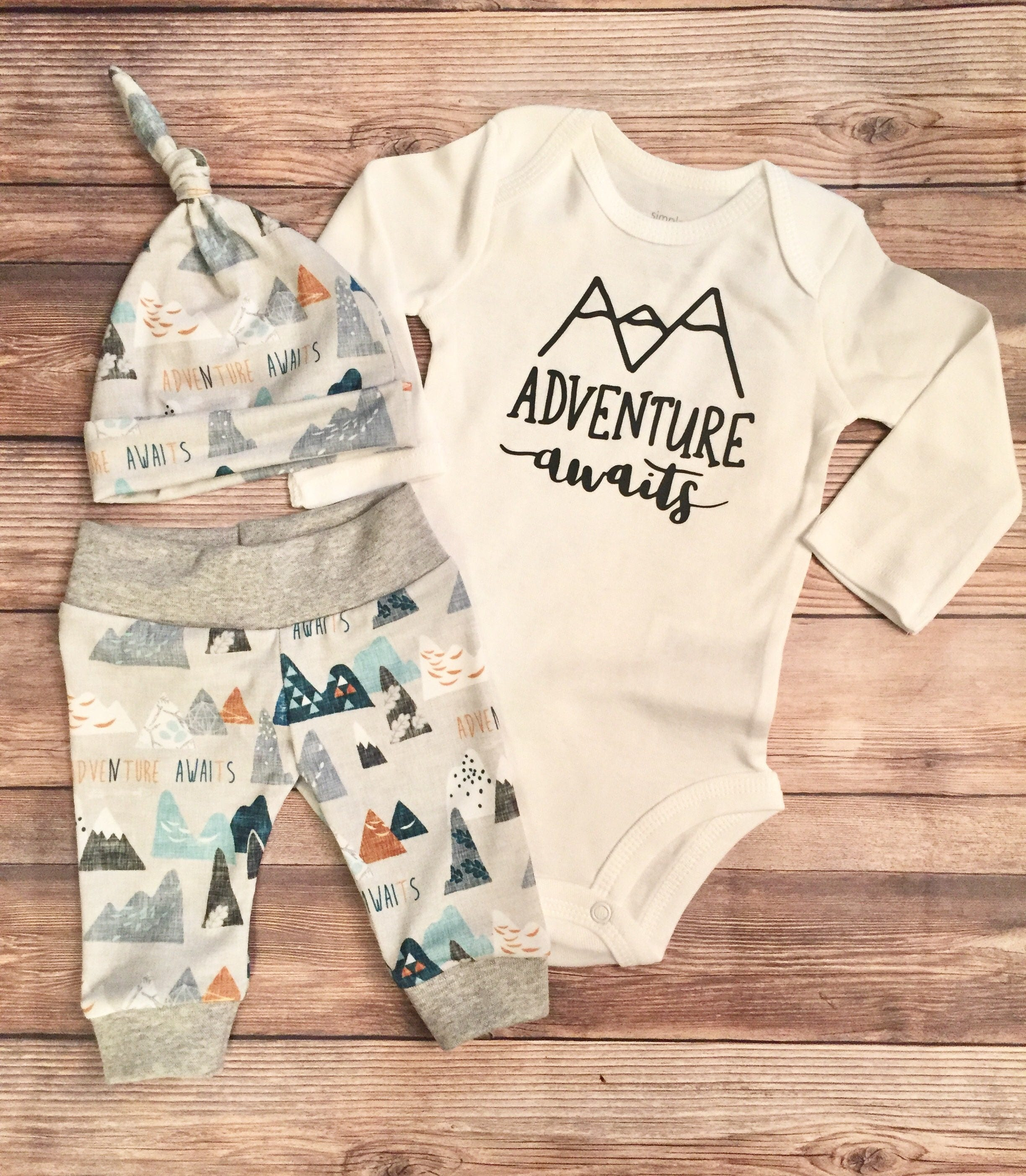 Adventure Awaits Newborn Boy Coming Home Outfit Newborn | Etsy