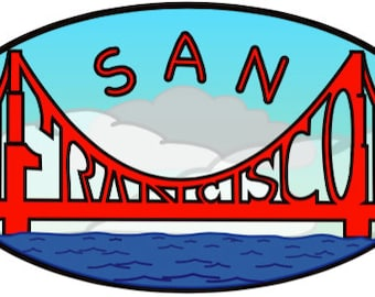 San Francisco 4.5 X 2.5 Sticker