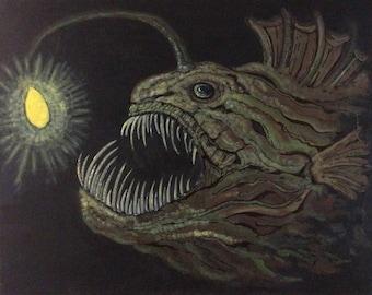 Anglerfish painting