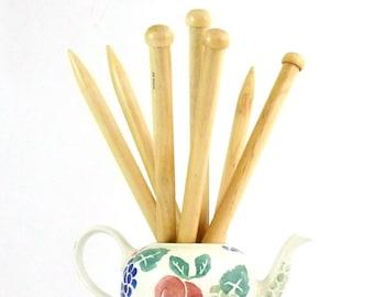 Chunky Bamboo Knitting Needles 10mm & 12mm (35cm)