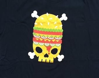 Death burger shirt-junk food-vegetarian