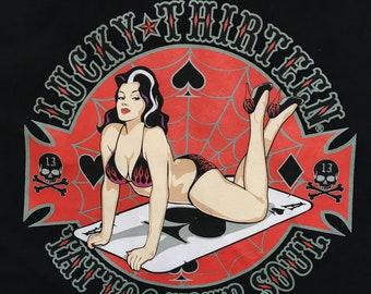 Lucky 13 shirt-rockabilly-pin up