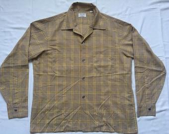 Vintage Plaid shirt by Jayson-60's-large