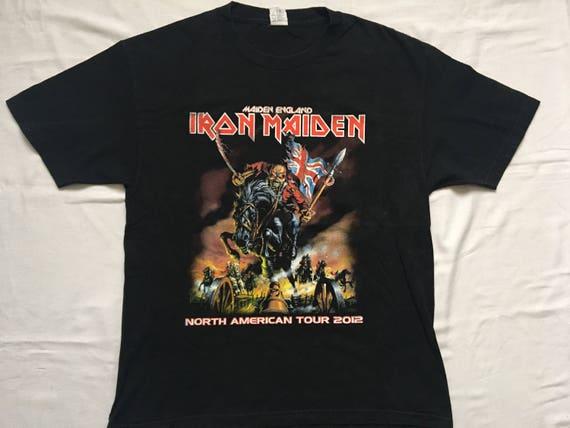 6e51f14c5f540 Iron Maiden tour shirt-Maiden England World Tour